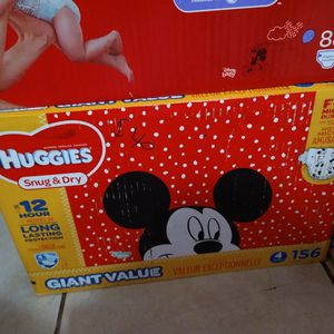 New All Huggies Brand Sizes 4 for Sale in Fresno, CA