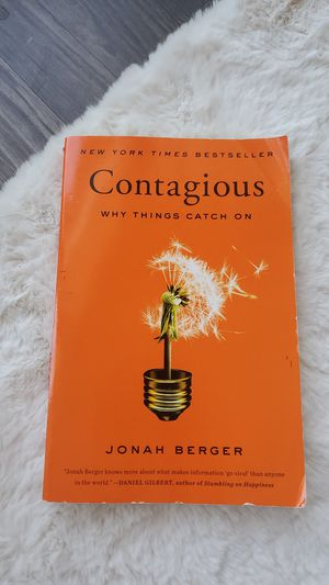 Contagious, why things catch on by Jonah Berger for Sale in Richardson, TX