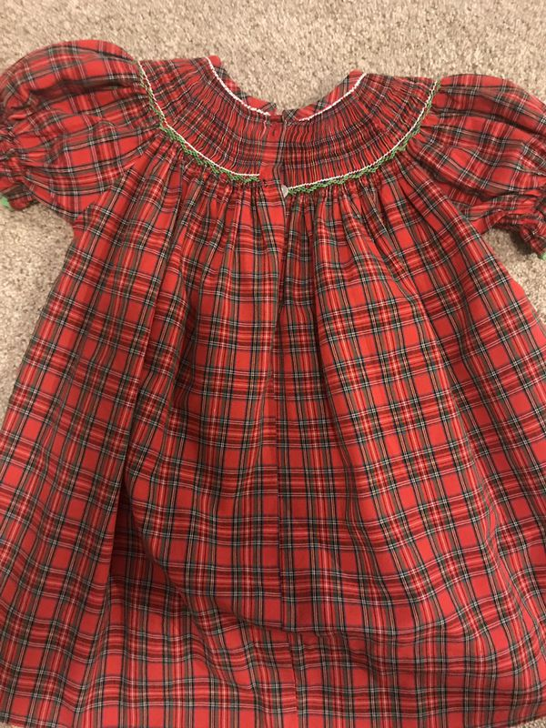 Anavini Hand Smocked 12M Baby Dress