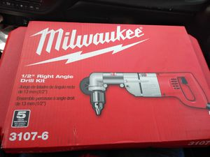 "Milwaukee 1/2"" right angle drill kit for Sale in Centreville, VA"