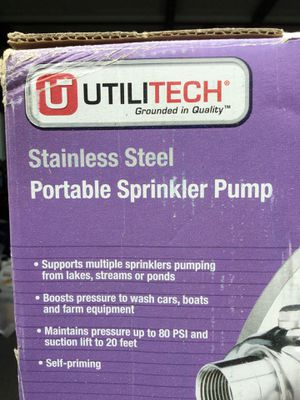 UtiliTech stainless steel 1hp sprinkler pump for Sale in Wantagh, NY