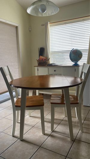Kitchen table and side table set with chairs for Sale in Orlando, FL