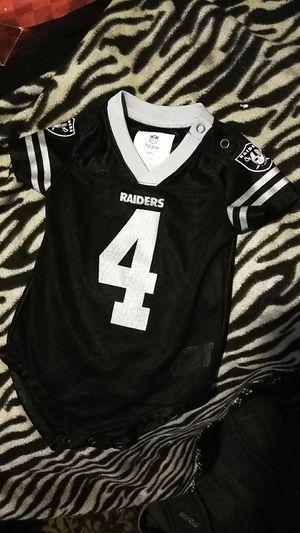 Oakland Raiders Carr onesie Jersey for Sale in Turlock, CA