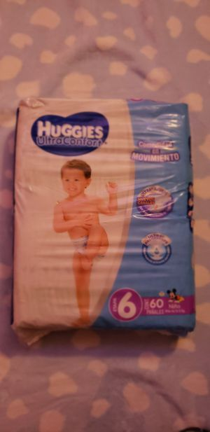 Huggies Ultra Confort Diapers (Size 6) 60 Count for Sale in San Diego, CA