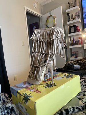 Fringe bootie heel for Sale in Sacramento, CA
