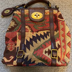 Authentic Fossil Southwest Tapestry/Carpet Handbag/Purse/Messenger Bag for Sale in Milwaukie,  OR
