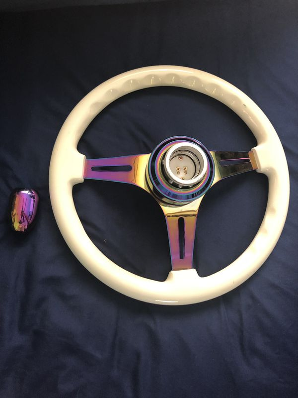 NRG Steering Wheel with matching shift knob