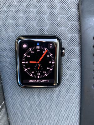 Black Stainless 42MM Series 3 Apple Watch for Sale in Auburndale, FL