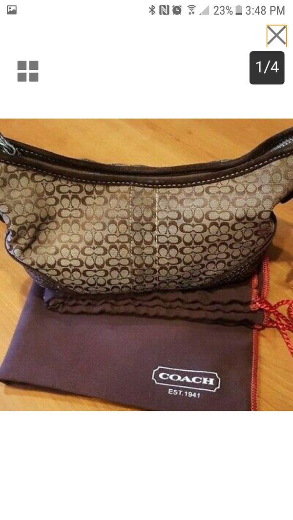 Coach hand bag genuine