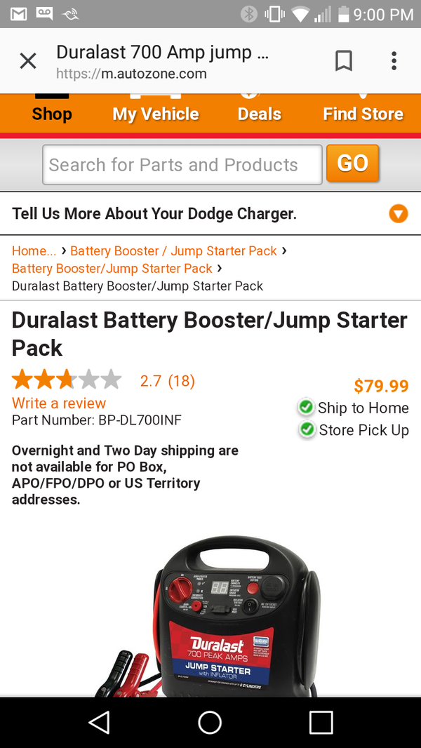 Jump starter/cargador para bateria de carro y celular for Sale in Los  Angeles, CA - OfferUp
