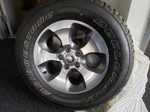 Jeep wrangler Sahara rims and tires for Sale in Renton, WA