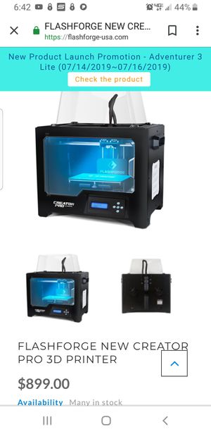 3D printer / Creator Pro flashforge for Sale in Alameda, CA