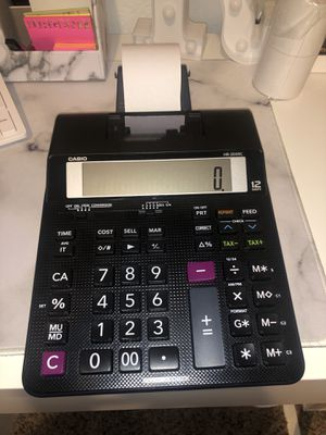 Casio HR-200RC Printing Calculator with Tape for Sale in Etiwanda, CA