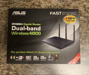 New ASUS RT-N66U Gigabit Router Dual-band Wireless-N900 - New in Box for Sale in Miami, FL