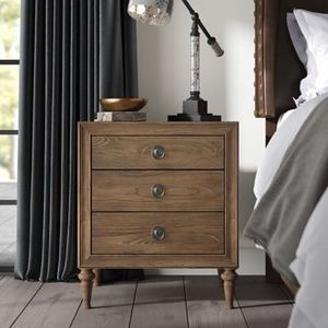 Brown Wood 3 Drawer Nightstand for Sale in Hawthorne, CA