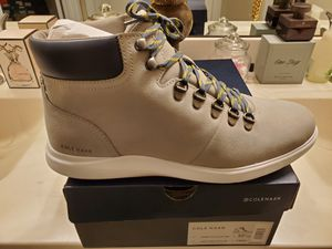 🔥100% Authentic RARE Men's Cole Haan Grand Plus Essex Hiker Boot LimeStone | White Sz 10.5 for Sale in Wake Forest, NC