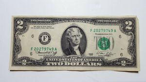 Yes, it's a TWO-DOLLAR BILL! for Sale in West Columbia, SC