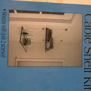 Glass Wall Shelf Shelves Glass Suspended Shelving Mounting Kit - Brand New In Box. for Sale in North Tustin, CA