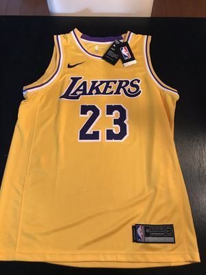 Brand new la Lakers Lebron James #23 Basketball Jersey Nike for Sale in Fountain Valley, CA