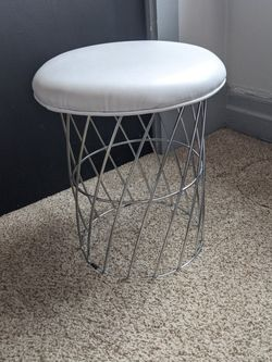 Stool - White Seat With Stainless Steel Cage for Sale in Pittsburgh,  PA