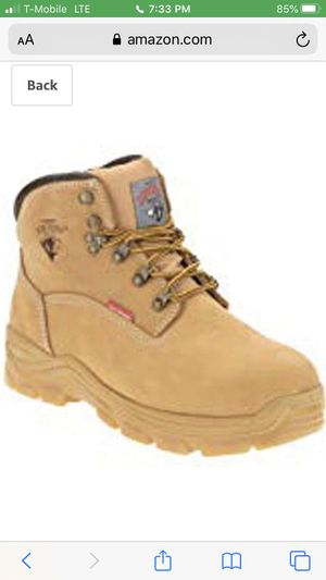 boots in box size available 7 and 7.5 leather slip resistant oil resistant wide with new in box steel toe for Sale in Snohomish, WA