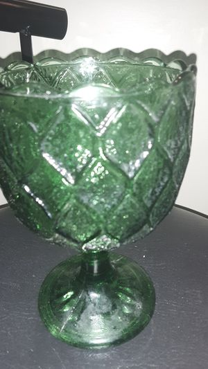 Green Collectable Vintage Glass Cup for Sale in Kennesaw, GA