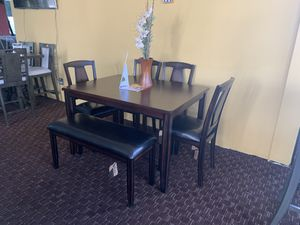 New 6 piece dining set . We offer easy finance not credit check available for Sale in Las Vegas, NV