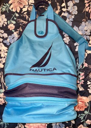 Large Blue Nautica 3-Compartment Mesh Backpack/Cooler for Sale in Long Beach, CA