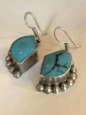 Vintage silver and turquoise earrings for Sale in San Antonio, TX