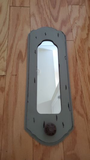 Grey Hanging Wall Mirror with Knob for Sale in Columbia, MD