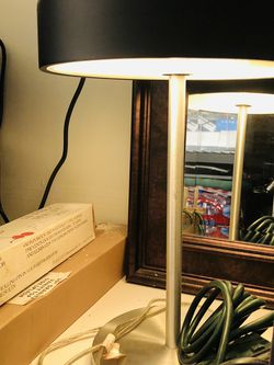 Vintage Black, Frosted Table / Desk lamp for Sale in Walnut Creek,  CA