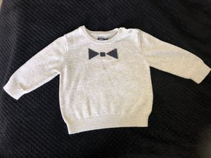Baby Gap Grey bow tie sweater 12-18 months for Sale in Costa Mesa, CA