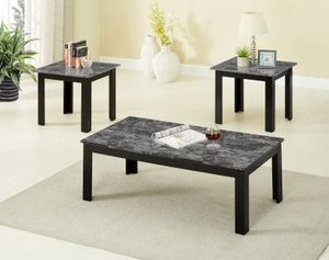 Brand New 3 Piece Grey Faux Marble Coffee Table Set for Sale in Silver Spring, MD