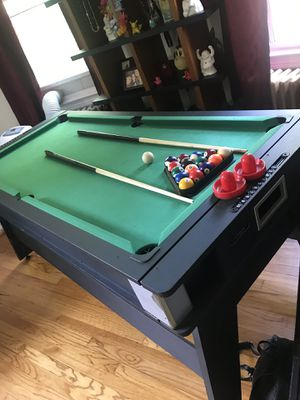 Pool table that flips over into air hockey table for Sale in Staten Island, NY