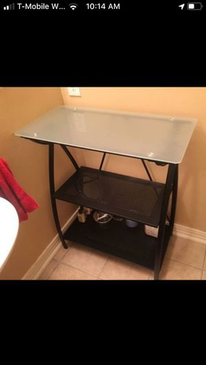 Glass-top metal shelves for Sale in McKinney, TX