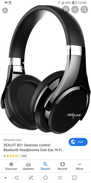 ZEALOT B21 Foldable Bluetooth Headphones Over Ear, Touch Sensitive Control Extra Bass Stereo Wireless Headset with Microphone for Sale in Las Vegas, NV