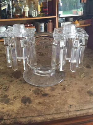 Antique double glass chandelier candle holder for Sale in Miramar, FL