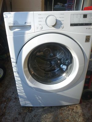 LG4.5-cu ft High Efficiency Stackable Front-Load Washer (White) ENERGY STAR WM3400CW for Sale in Durham, NC