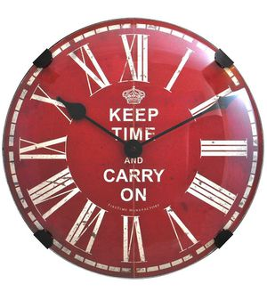 "New firstime keep time done glass wall clock 16"" for Sale in Henderson, NV"