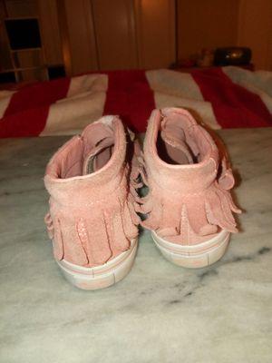 Pink suede Fringe Vans upgraded deck's for Sale in Washington, DC