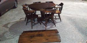 Vintage 6 chairs solid wood dining set with extentions for Sale in Pasadena, TX