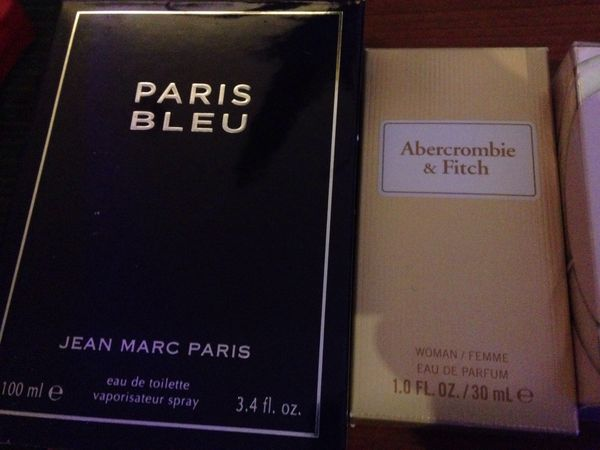 Men's jean Marc Paris cologne Abercrombie &fitch woman perfume Gucci Bamboo woman's Burberry weekend woman's perfume