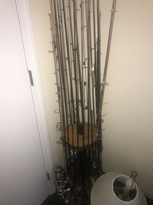 All types of fresh water fishing rods and reels starting 15 to $30 for rod and for reels Or 50 rods and 20 reels for $500. All fresh water for Sale in Beverly, MA