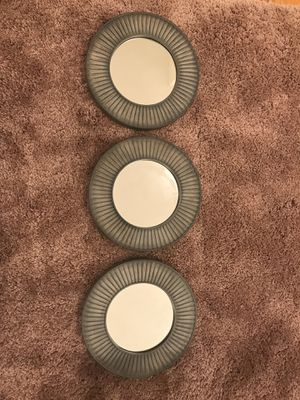 Decorative mirror - set of 3 for Sale in MIDDLE CITY WEST, PA