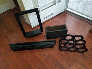 Home decor lot wood shelf wine rack box crate for Sale in Long Beach, CA