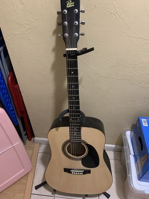 Rogue Acoustic Guitar with stand and string protection for Sale in Boston, MA