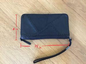 Real leather wallet black for Sale in Los Angeles, CA