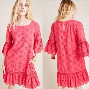 Anthropologie Dari Eyelet Lace Pink Tunic Dress Size 6 for Sale in Lacey, WA