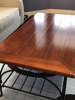 Solid Wood And Iron Coffee Table for Sale in Littleton,  CO