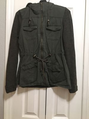 Green jacket with hoodie for Sale in Orlando, FL